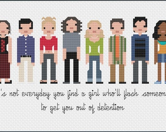Parody 10 Things I Hate About You PDF Cross Stitch Pattern