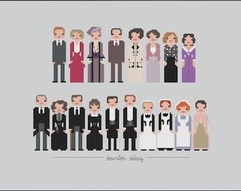 Parody Downton Abbey PDF Cross Stitch Pattern