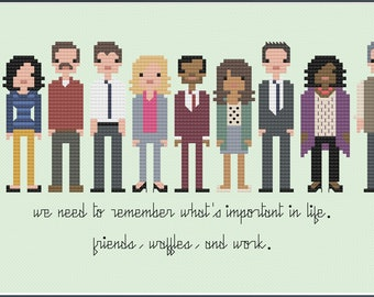 Parody Parks & Recreation PDF Cross Stitch Pattern
