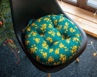 Handmade Pillows for chairs, Cushion for chair, cushion with ties