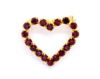 My #1 Auntie Ruby red heart brooch pin