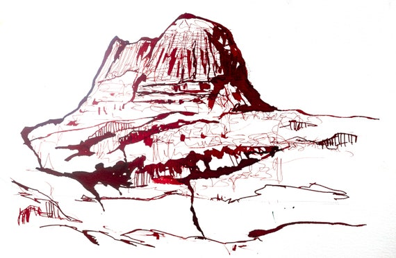 Suilven in Ink