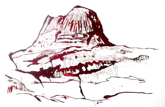 Suilven in Ink