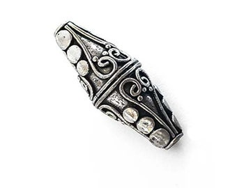 Solid 925 Sterling Silver Ring Natural Indonesian Fossil Coral Handmade Jewelry Size 12.5