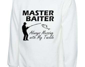 Boys Girls Master World Class Baiter Teen Youth Fleeces White L