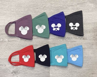 Personalized Kids & Adult Disney Face Mask// Disney Bridal Party Face Masks//Bride Tribe, Bride Face mask //Made In USA
