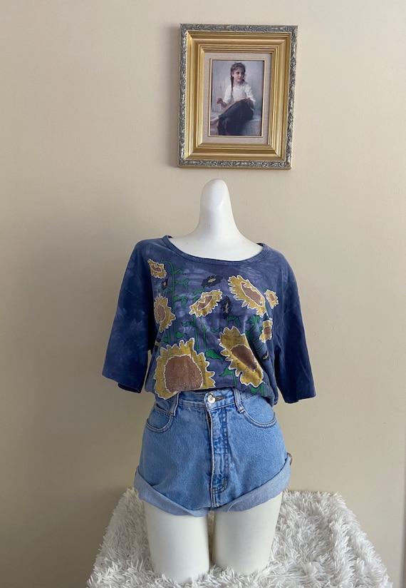 Vintage Tie Dye Sunflower T-shirt