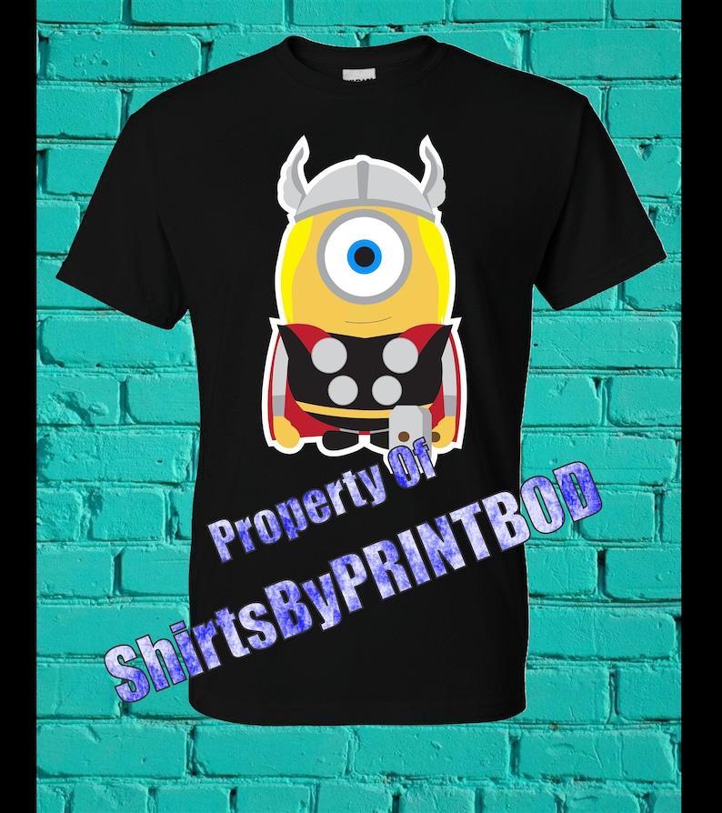 Thor Minion T-shirt Super Minion Superhero