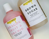 Body wash shower gel infused with botanicals