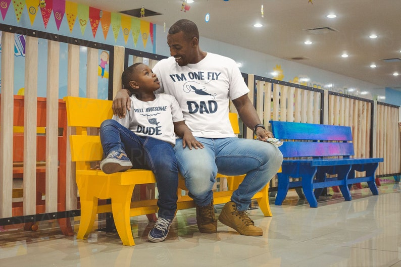 Matching Fishing Lover Daddy and Me Shirt Funny Dad and Baby Fathers Day Shirts VC1865 Dad and Son Family Shirts
