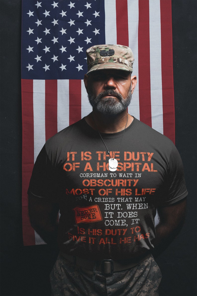 Proud Veteran Navy Corpsman T-Shirt- Masswerks Store