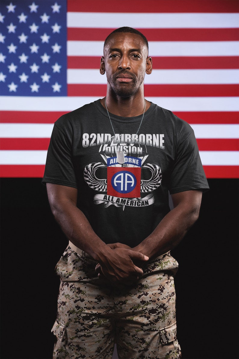 82Nd Airborne Division All American T-Shirt Masswerks Store