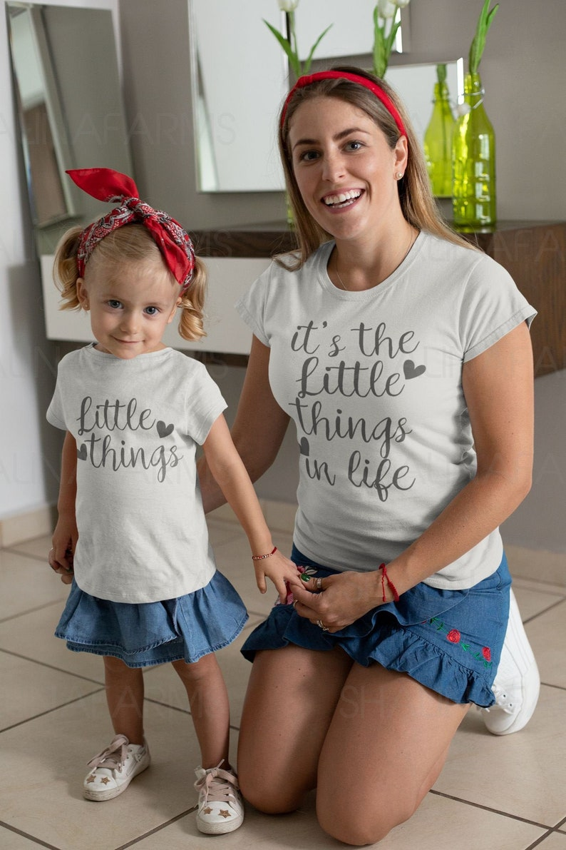 Matching Daughter Mom Gift Mother And Daughter Gift Shirt Matching Mom Daughter T Shirt Mother and Baby Set Shirt VC1627