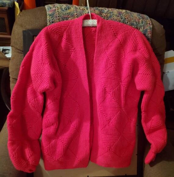 Vintage 1950's handmade crochet women's sweater