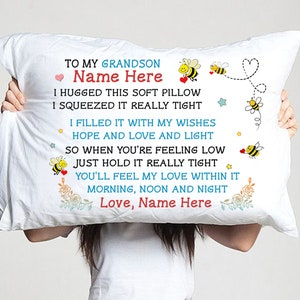 love granddad pillowcase To my grandson i/'ll always be with you