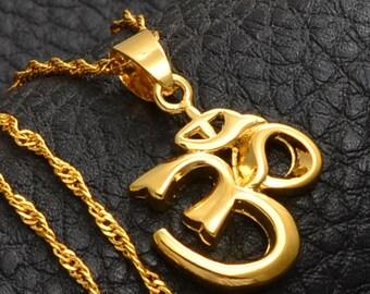 OM Yoga jewelry yoga necklace amulet Ethnic jewelry ethnic pendant gypsy jewelry buddhist amulet -