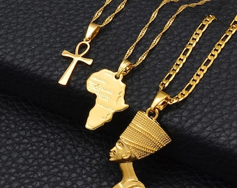 Nefertiti Necklace SMALL Nefertiti Jewelry Ankh Necklace Egyptian Jewelry Gift Charm Necklace Personalized Jewelry Initial Necklace Pendant
