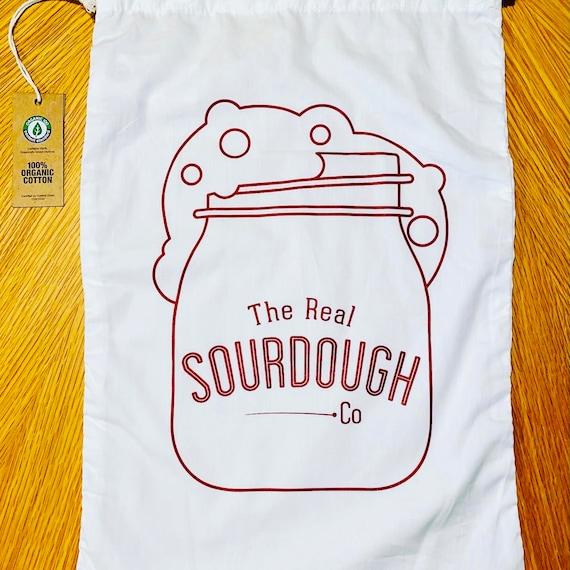Organic cotton bread storage bag