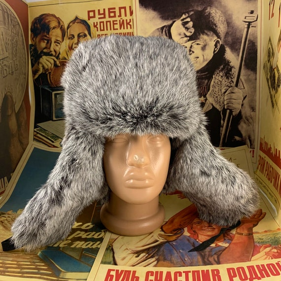 Ushanka hat,Russian hat,rabbit hat