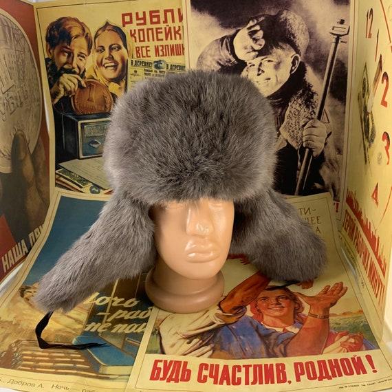 Ushanka,Russian ushanka,rabbit hat ushanka
