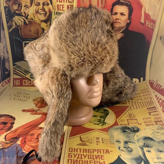New rabbit hat,Russian hat,ushanka,real fur