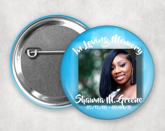 50 Funeral Buttons\u2014Blissful Design *Free Shipping*