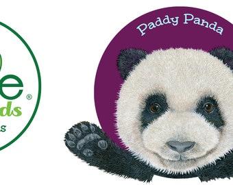 Paddy Panda Hug a Mal Kids 11 oz Plastic Mug, Children's Animal Drinking Cups, Made in USA, Melamine Free, Interactive Kids Tableware