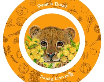 Peek a Baby Lion Bowl For Children, Kids Tableware, Bowls for Grandma's House, Fun Dishes for Kids, Children's BPA Free Soup Bowls