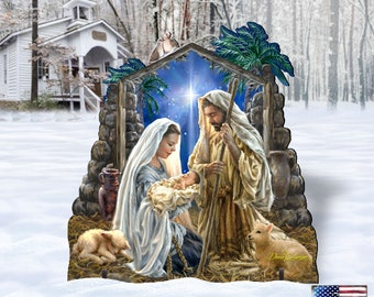 Outdoor Nativity Scene - Glory to God Outdoor Decor by Dona Gelsinger 8461010F-1722