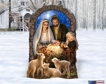 Outdoor Nativity Scene - Miracle Nativity Home and Outdoor Decor by Dona Gelsinger 8461042-1F-1201