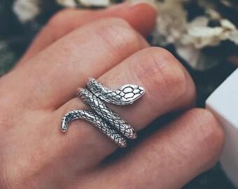 Snake Statement Ring Gold Serpent Ring Snake Cz Ring Wrap Ring Ouroboros Snake Ring Pyhton Ring Dainty Gold Snake Ring Snake Ring