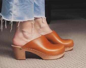LIV mid heel clogs - Damen Clogs mit Absatz - handmade with Love & Style in Sweden