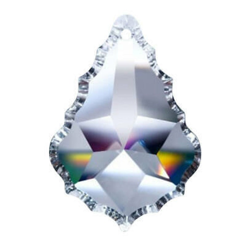 1 Hole 2.5 Clear Asfour Crystal Pendeloqu # 911 French Cut SET of 5-64mm