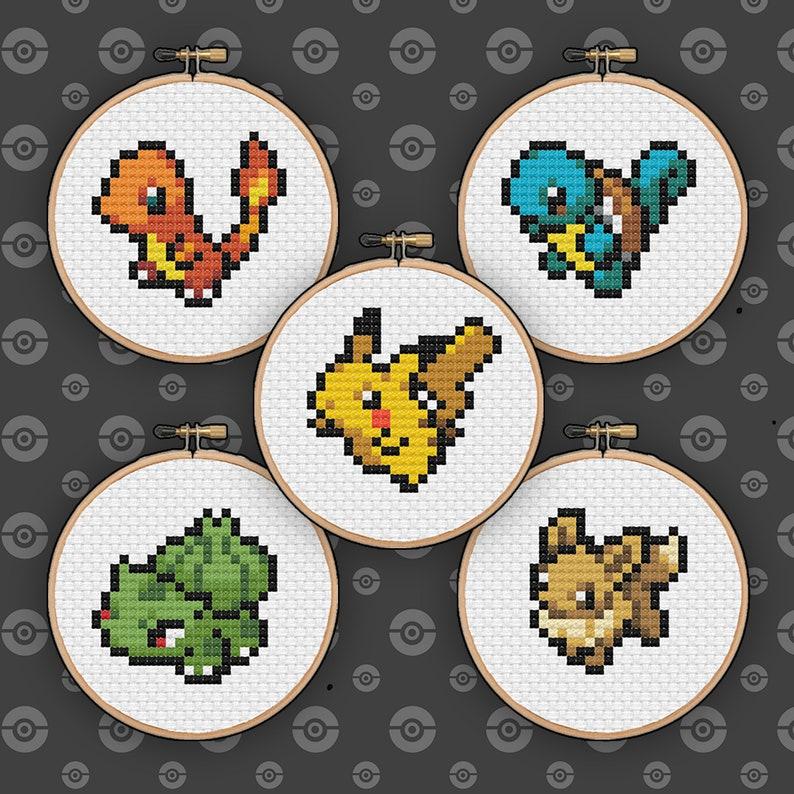 Cross Stitch Card Kit Charmander Pokemon