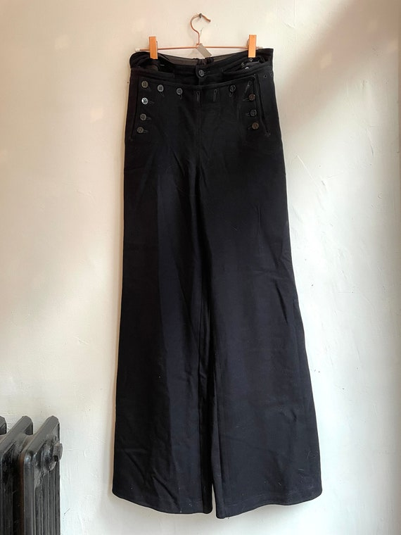 Vintage Black Sailor Pants