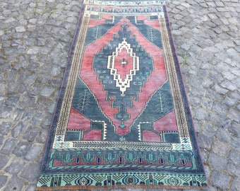 1.8x3.2 ft High Quality Turkish Rug Bath Rug Oriental Rug Small Rug Vintage Rug 5051 Floor Rug Anatolian  Rug Door Mat Entry Rug