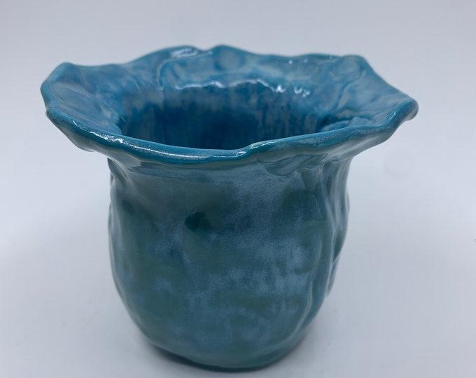 NEW! Blue Ceramic Pencil Cup