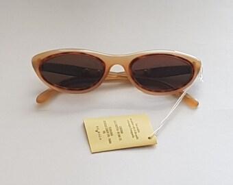 Sting 320 Vintage Sunglasses Round Colour Gold Retro