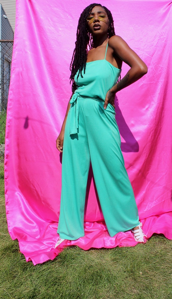 1970s Mint Green Lillie Ruben Jumpsuit
