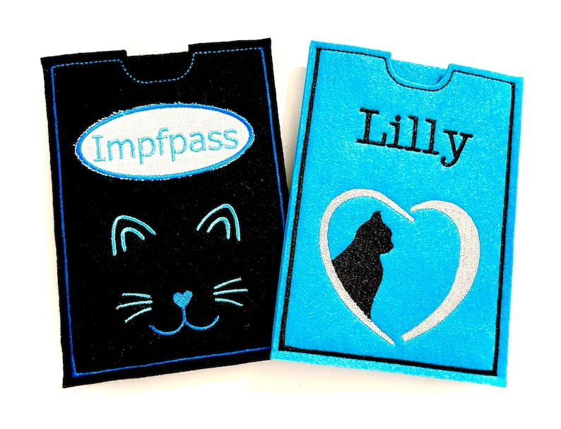 Documents ID cat passport vaccination passport cover for image 0