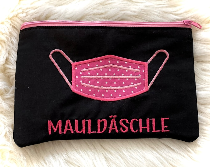 Mauldäschle, mask bag, pouch, bags for masks with and without name