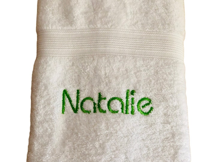 Towel 50 x 100 cm (handtowel), guest towel embroidered with name or saying, various colors