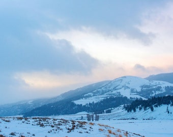Winter Mountain Landscape, Winter Landscape Photography, Nature Photo Print, Nature Wall Art, Lauren Pretorius Photography | 25