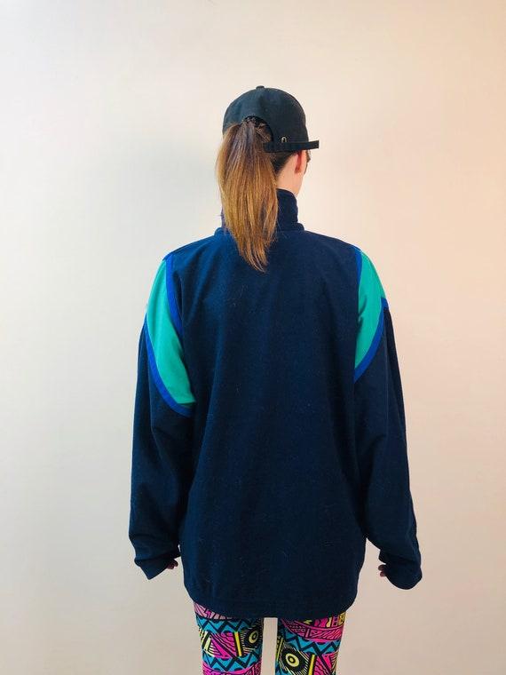 Puma green blue Jacket Runner tennis 80s Running … - image 2