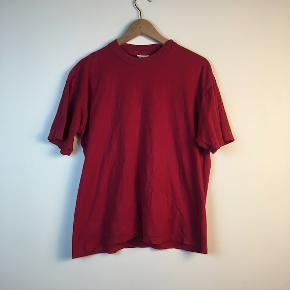 Manhattan Germany school red black T shirt Tee Old