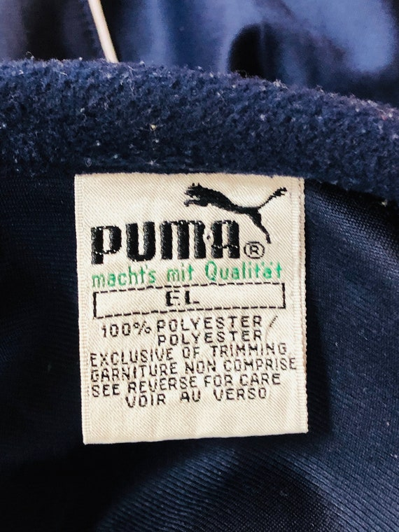 Puma green blue Jacket Runner tennis 80s Running … - image 3