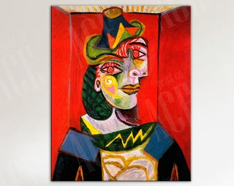 Pablo Picasso Canvas, Bust of a Woman Reproduction Print
