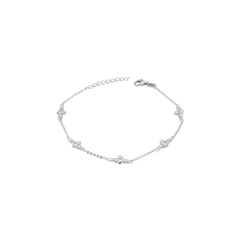 5 Claddagh Link Bracelet