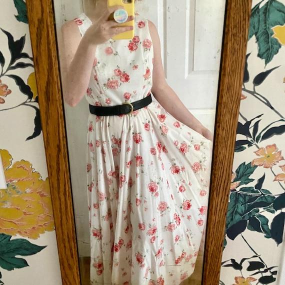 Laura Ashley Cotton Dress // Vintage 90s // Midi … - image 1