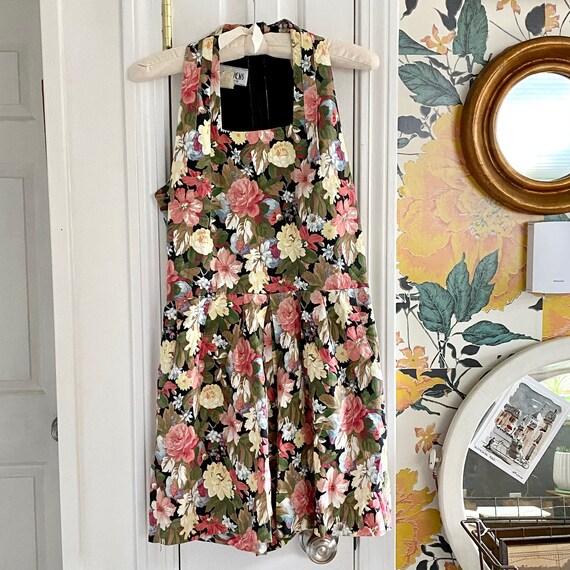 Floral Romper // Vintage 80s // Cotton Romper